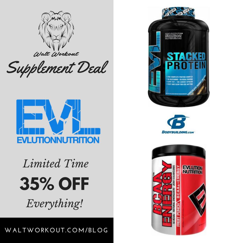 Use Code: EVL35OFF @ bodybuilding.com