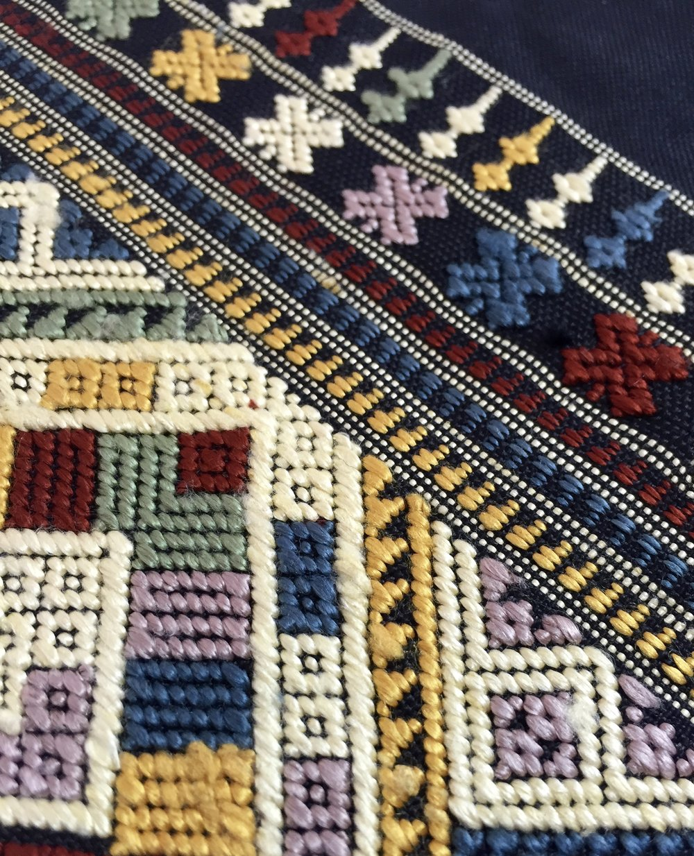 The sophisticated detail and symbolic motifs of handwoven silk textiles from the Tai Daeng and Tai Phouan ethnic groups in Laos, part of an initiative of Ock Pop Tok's  Village Weaver's Project  in Luang Prabang, Laos.