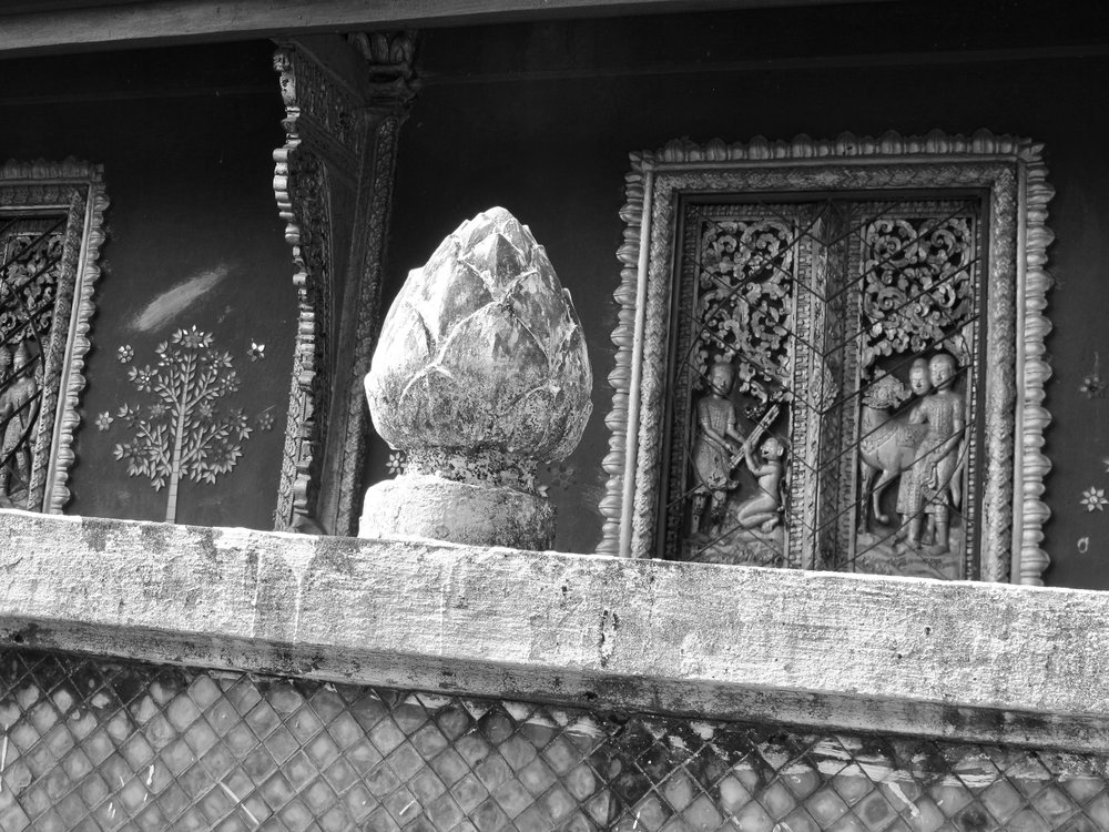 Detail of a temple in Luang Prabang