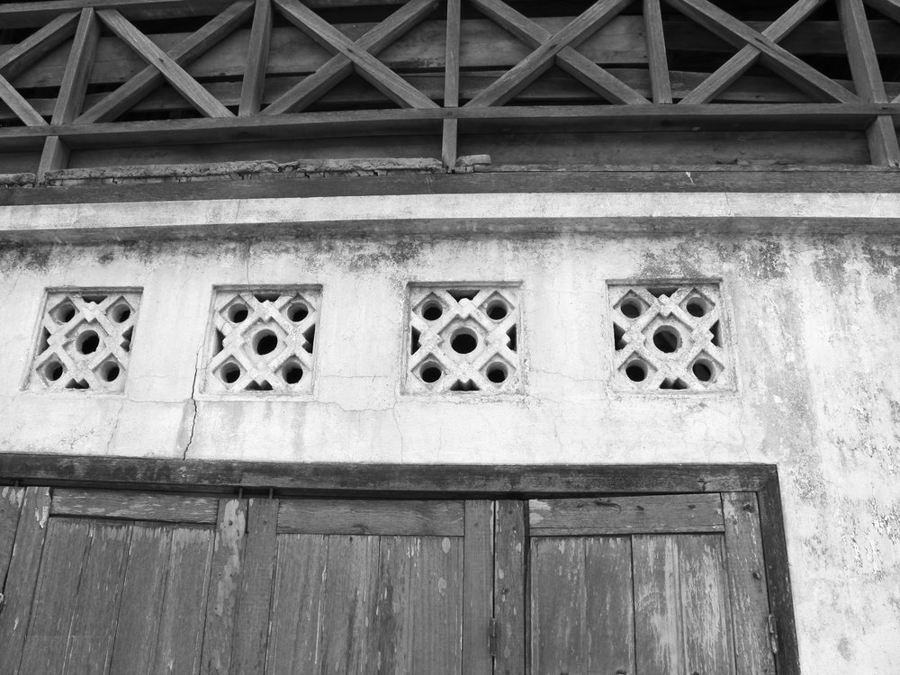 Building detail in Savannakhet