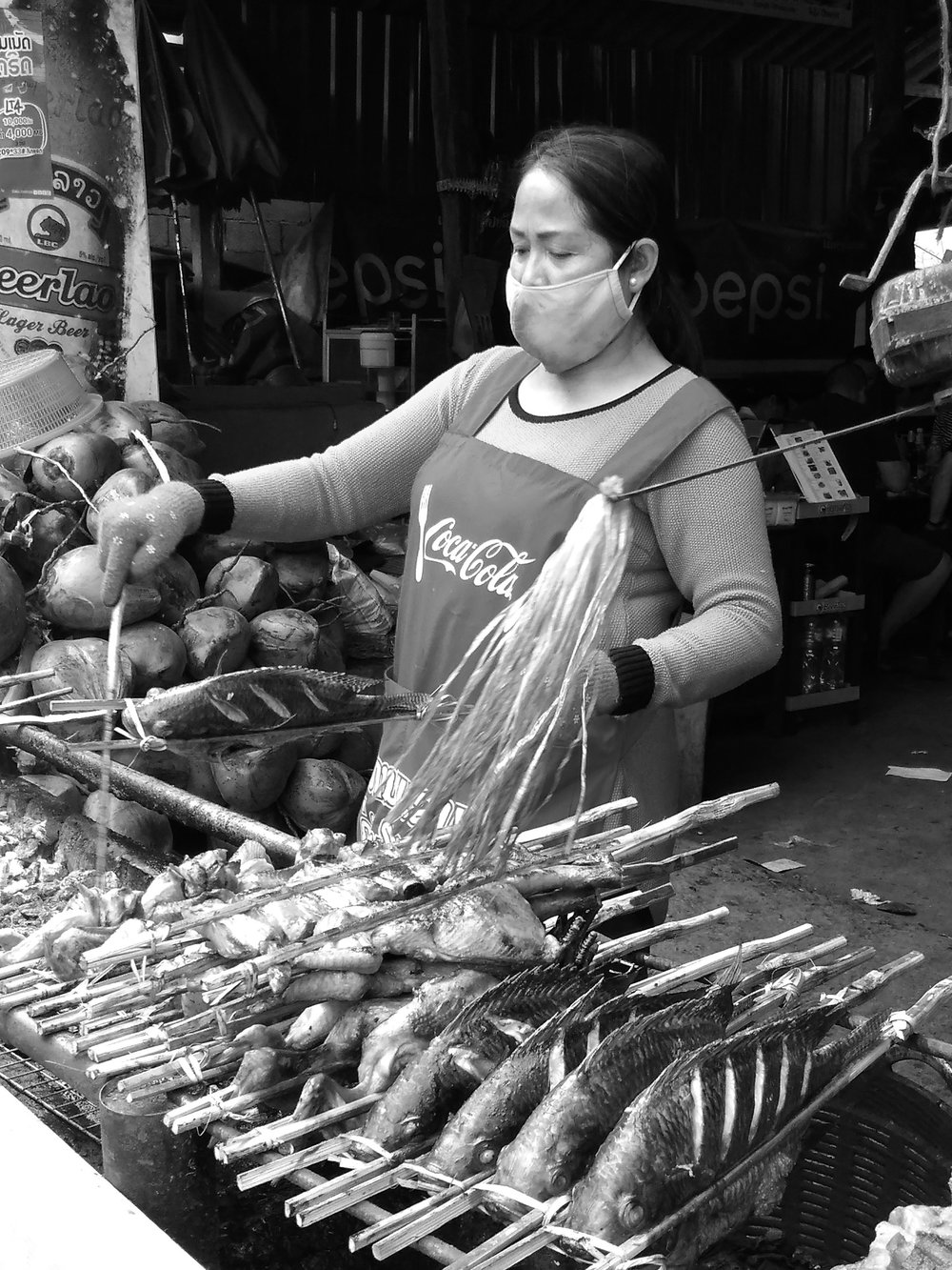 Street vendor at Kuang Si Falls