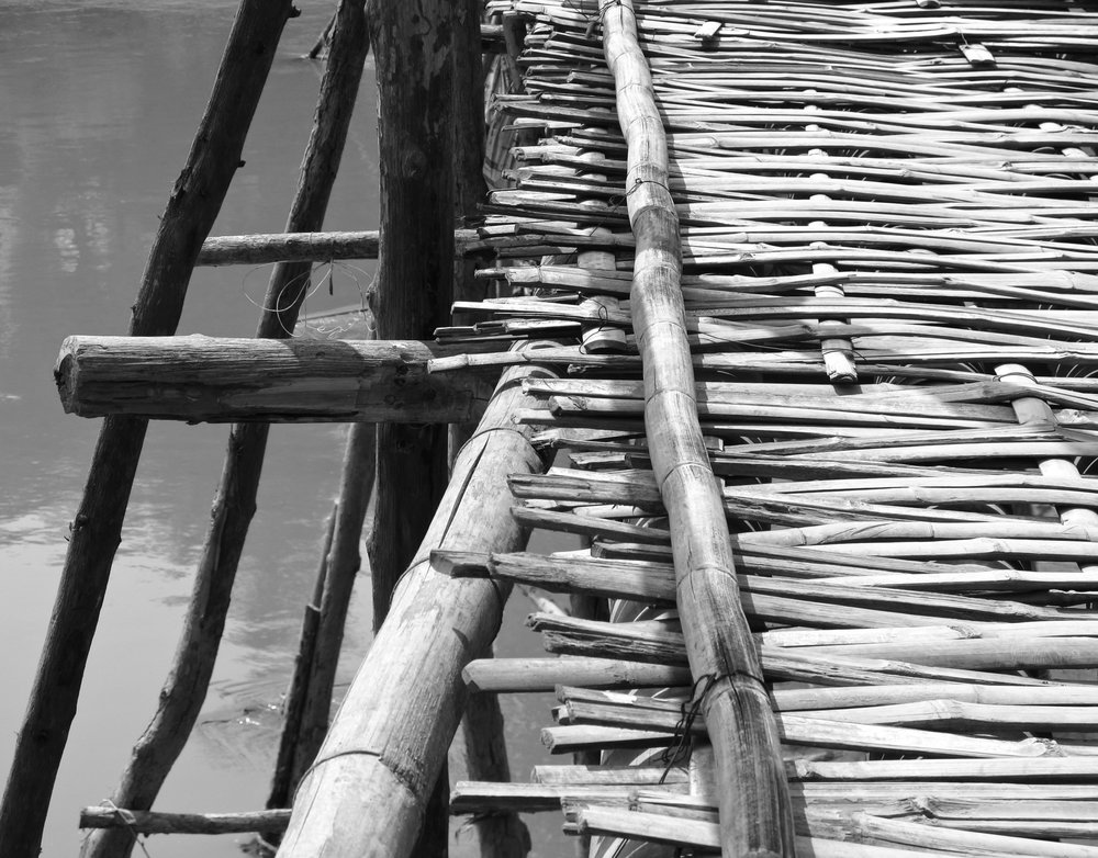 Bamboo bridge to Xang Khong village