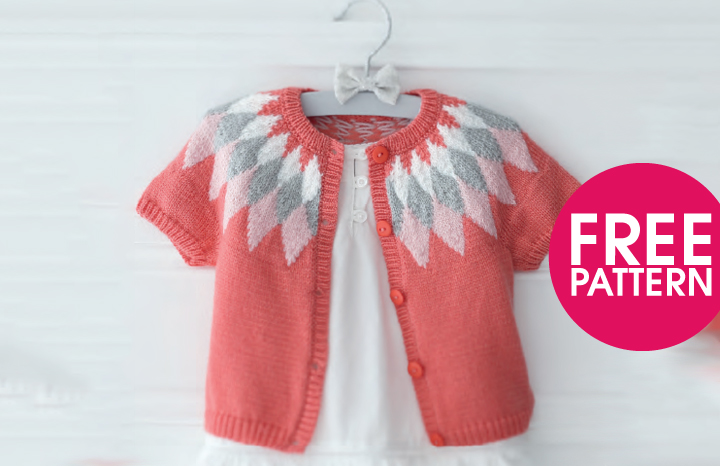 Short Sleeved Girls Cardigan Knitting Pattern Yours