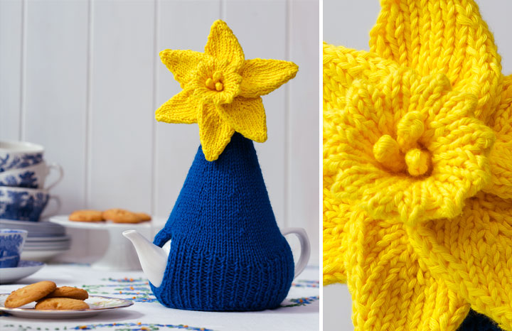 Knitted Daffodil Tea Cosy Yours