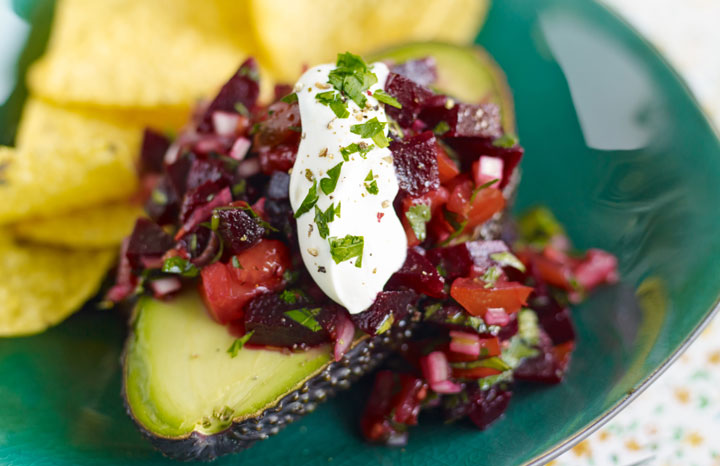Avocado-filled-with-lime-beetroot-&-shallot-salsa,-topped-with-a-little-sour-cream,-served-with-tortilla-chips[1].jpg