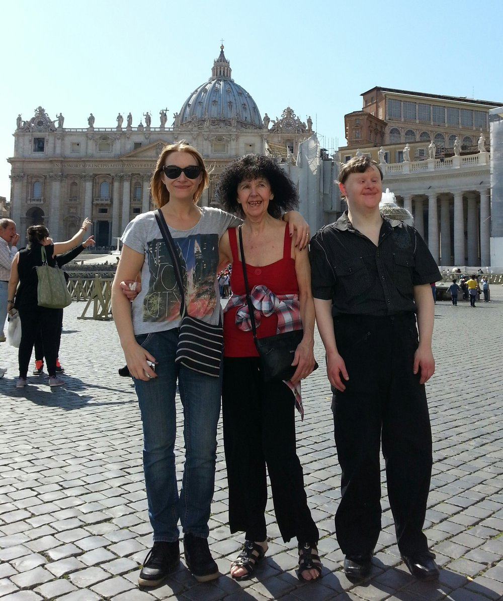 Dawn, Pat and Craig von holiday in Rome