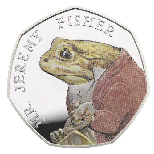 Mr Jeremy Fisher hops onto a new 50p coin