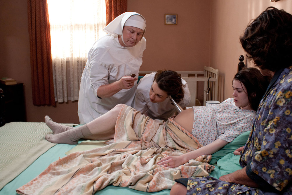 Pam as the much-loved, straight-talking Sister Evangelina in Call the Midwife