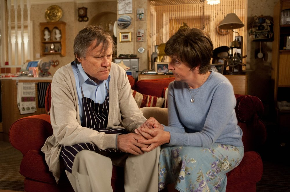 Julie as her old alter-ego Hayley Cropper in Coronation Street