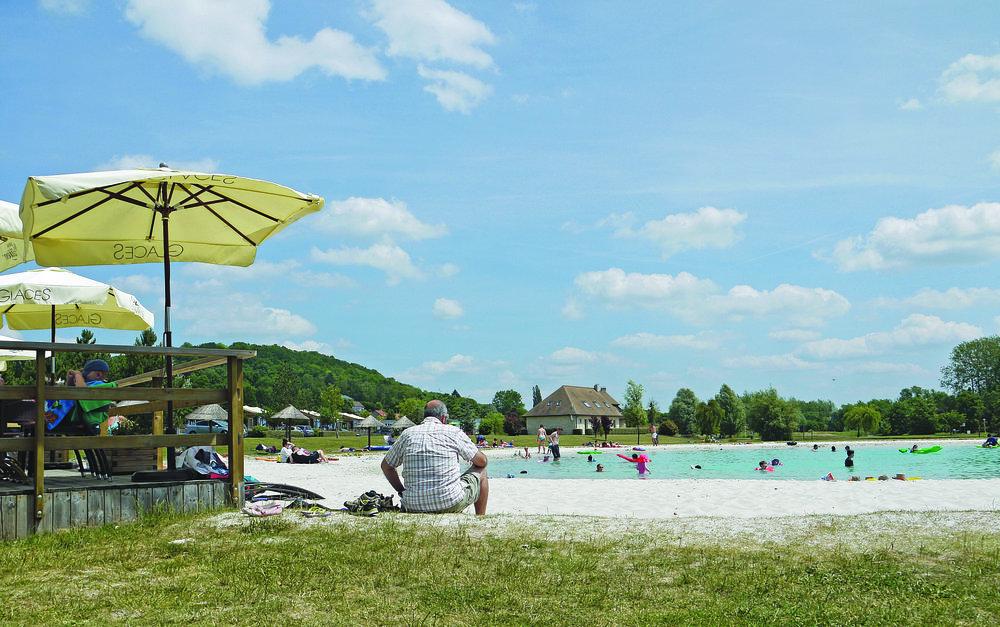 Lagoon Beach at Eurocamp La Croix du Vieux Pont