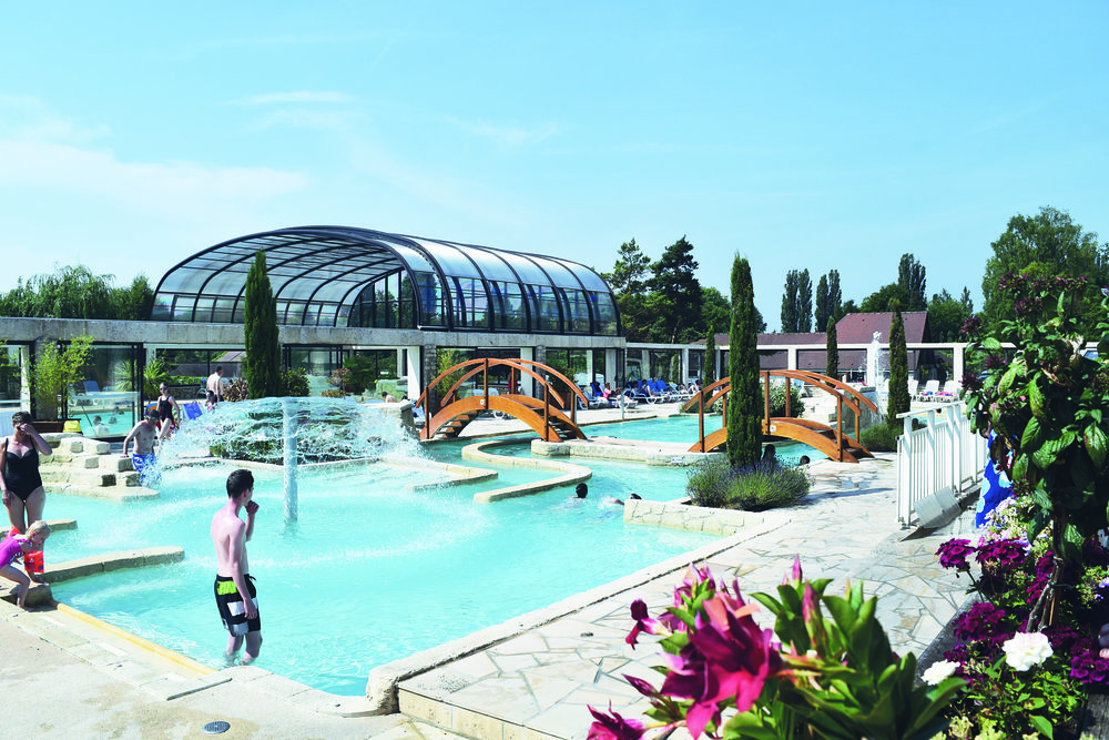 Swimming pool at Eurocamp La Croix du Vieux Pont