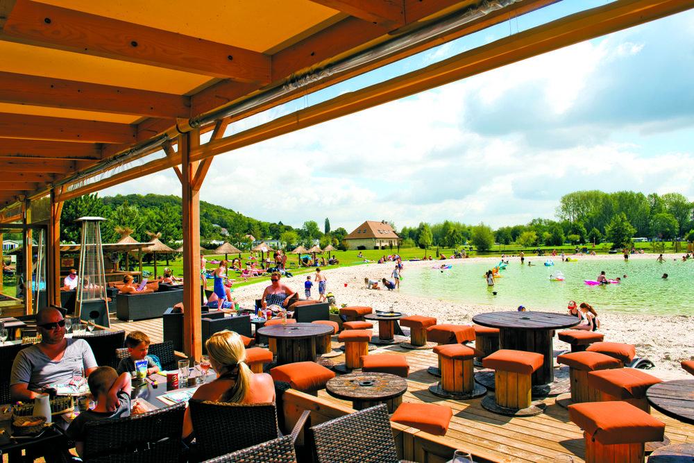 Cafe at Eurocamp La Croix du Vieux Pont