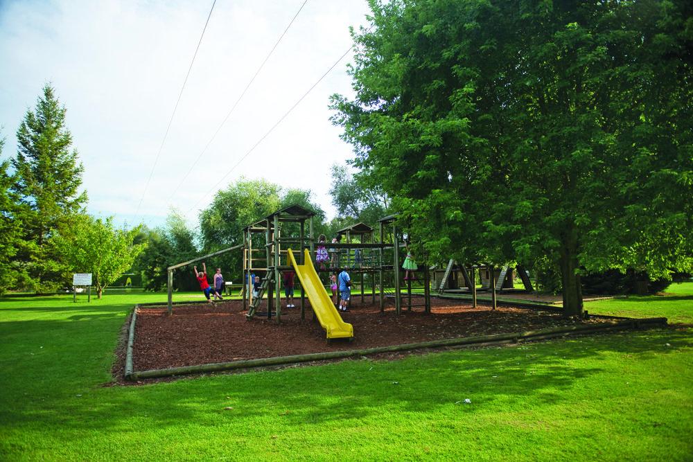 Playground at Eurocamp La Croix du Vieux Pont