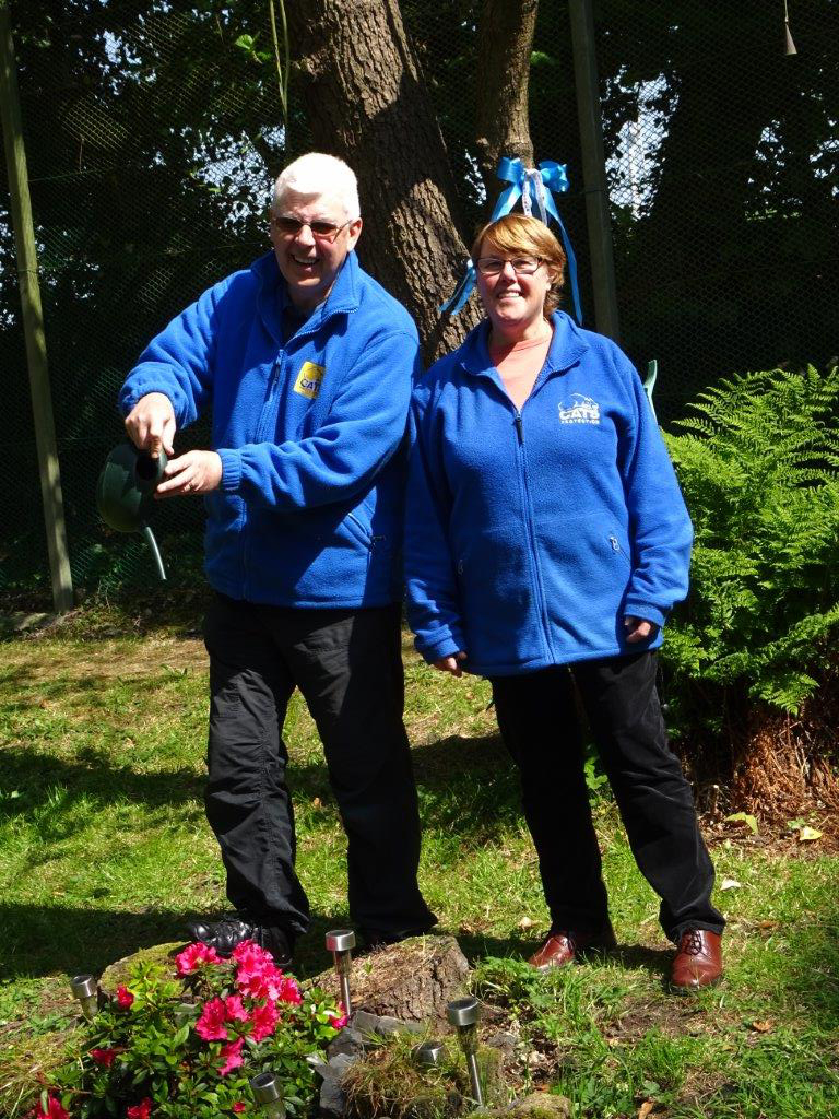 Fay and John love helping out in the Adoption Centre's garden