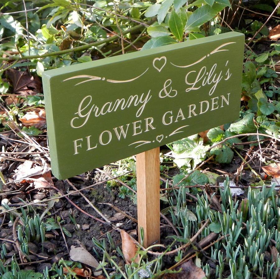 grandmas garden sign