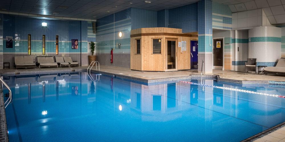 The Leisure Club pool with sauna