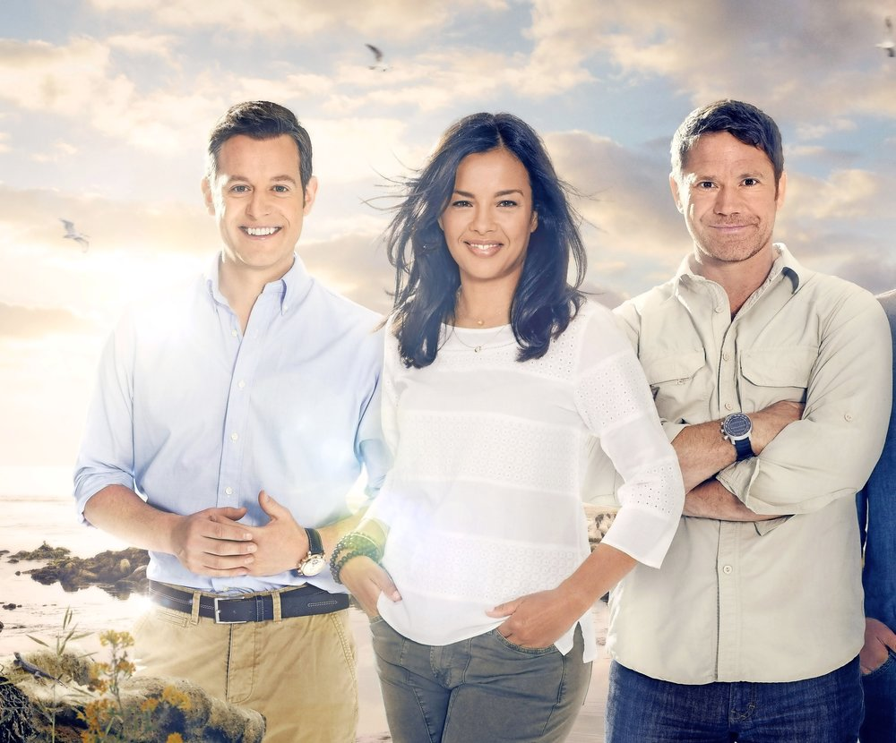 From left, Matt Baker, Liz Bonnin and Steve Backshall