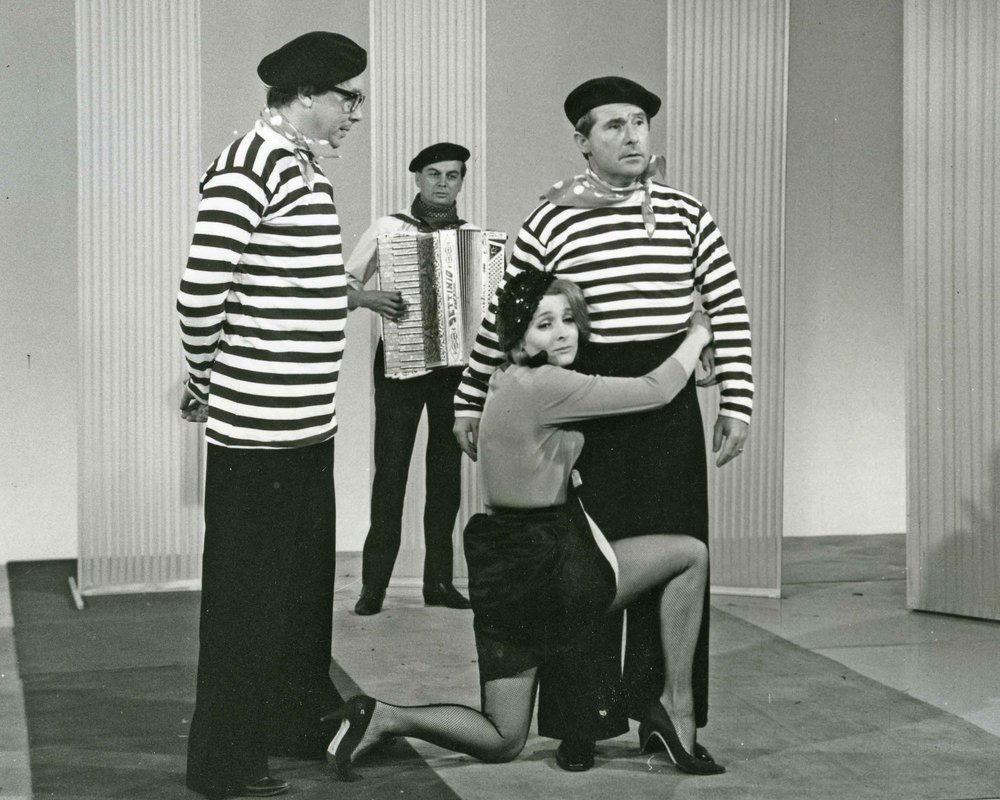 Millie in a 1962 Morecambe and Wise TV show