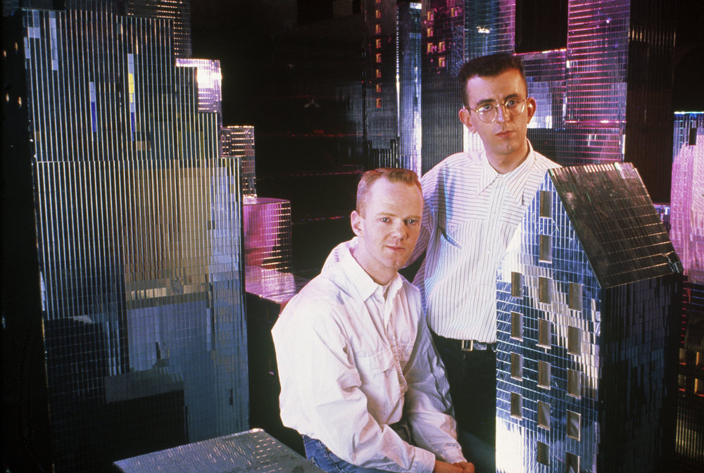 Richard (right) with Jimmy Somerville in The Communards