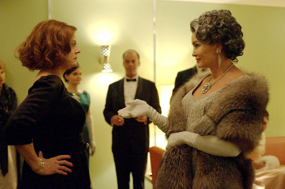 Feud depicts the rivalry between Bette and Joan, played by Susan Sarandon and Jessica Lange