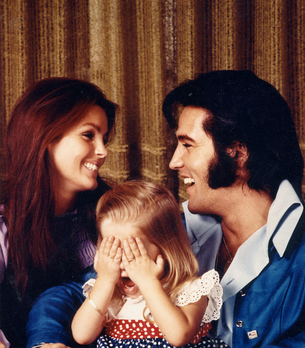 Elvis with Priscilla and Lisa-Marie