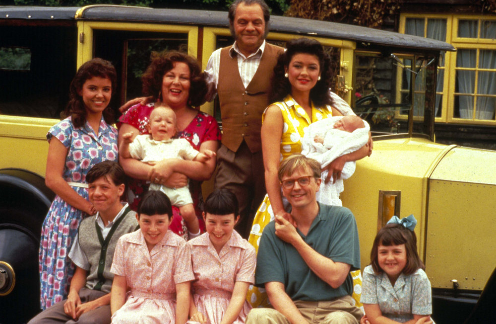 Pam, David Jason and the rest of the Darling Buds cast