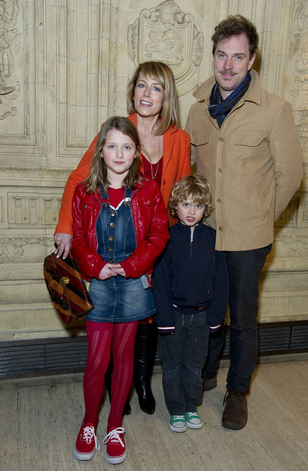 Fay with her husband Daniel and two children