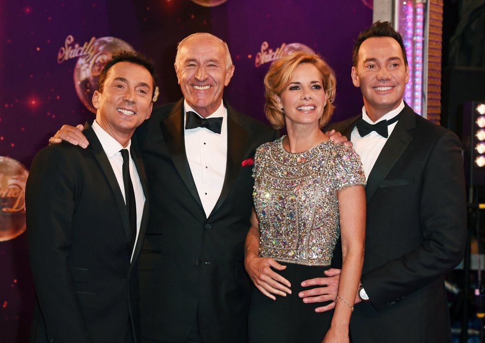 Len with his fellow judges and friends on Strictly Come Dancing