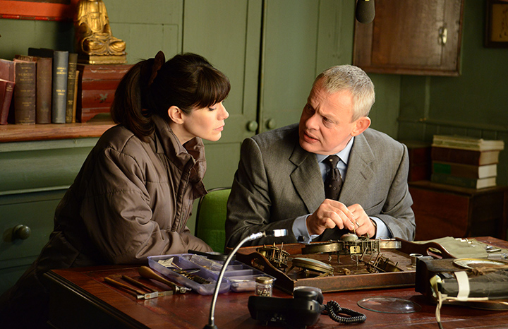 Martin with on-screen wife Caroline Catz