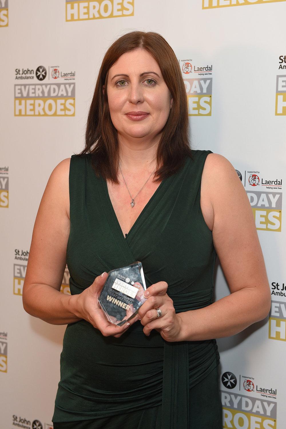 The amazing Natasha with her award