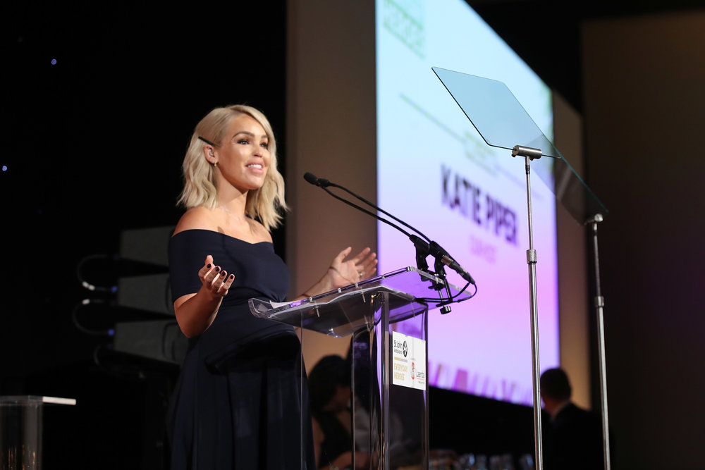 Katie Piper presented the evening's celebration