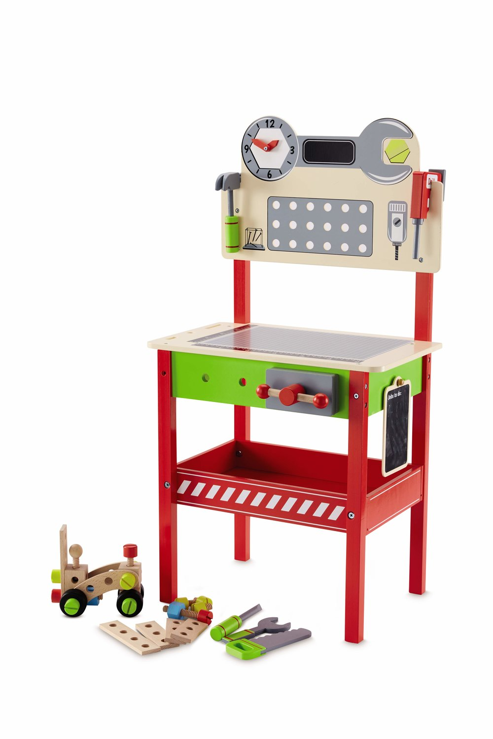 Wooden Work Bench and Tools £34.99