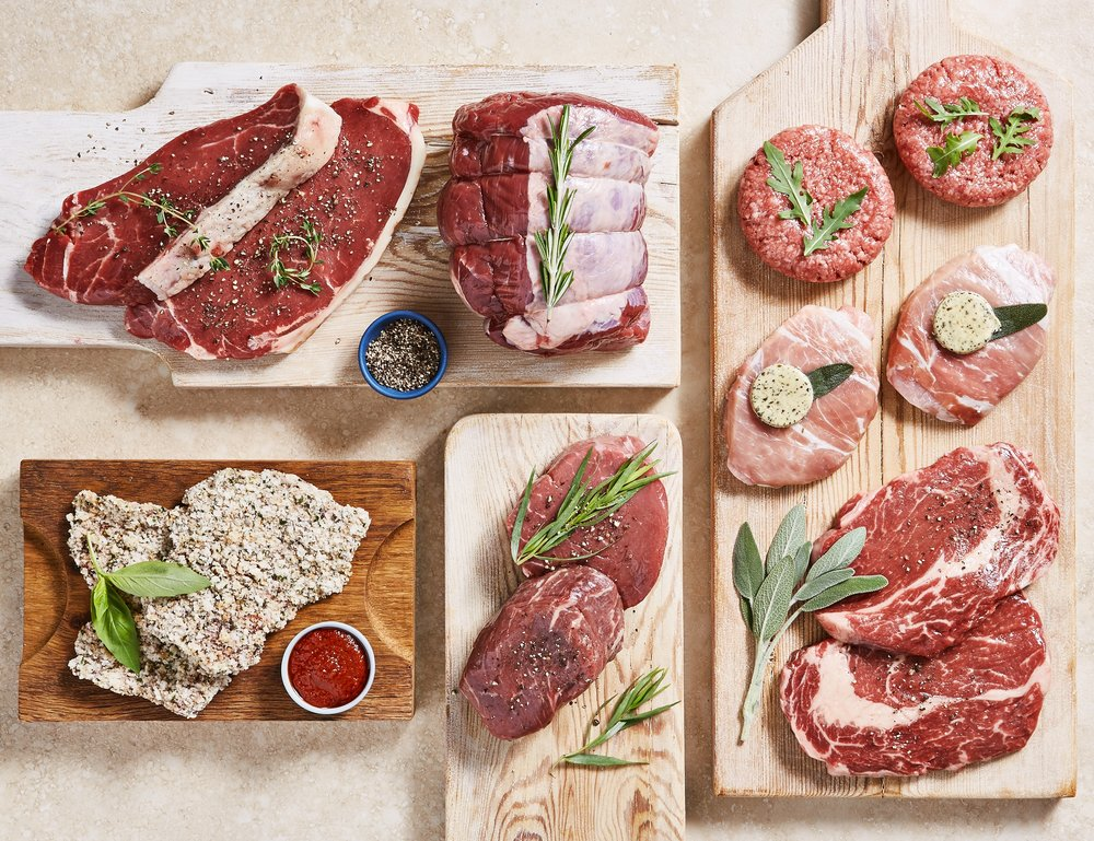 The Luxury Meat Box £60 includes Aberdeen Angus topside & salt-aged sirloin