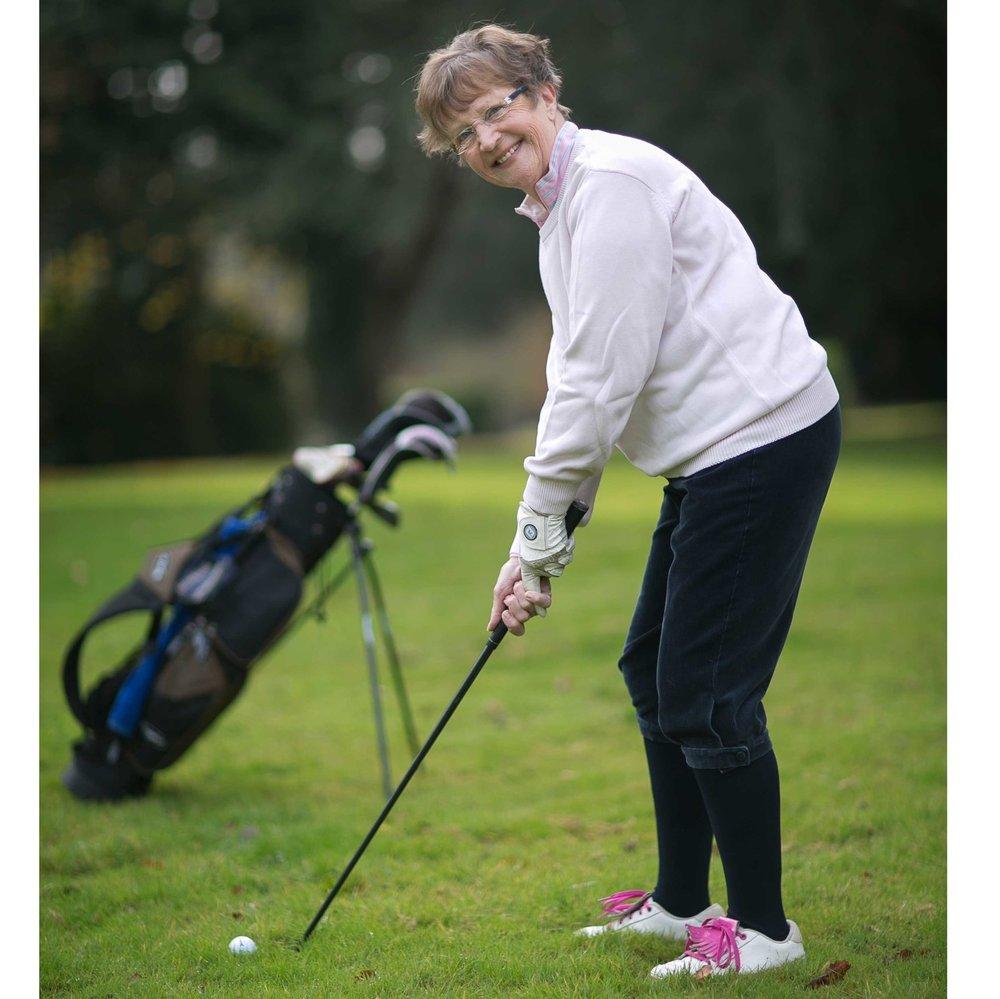 Sue is a keen golfer