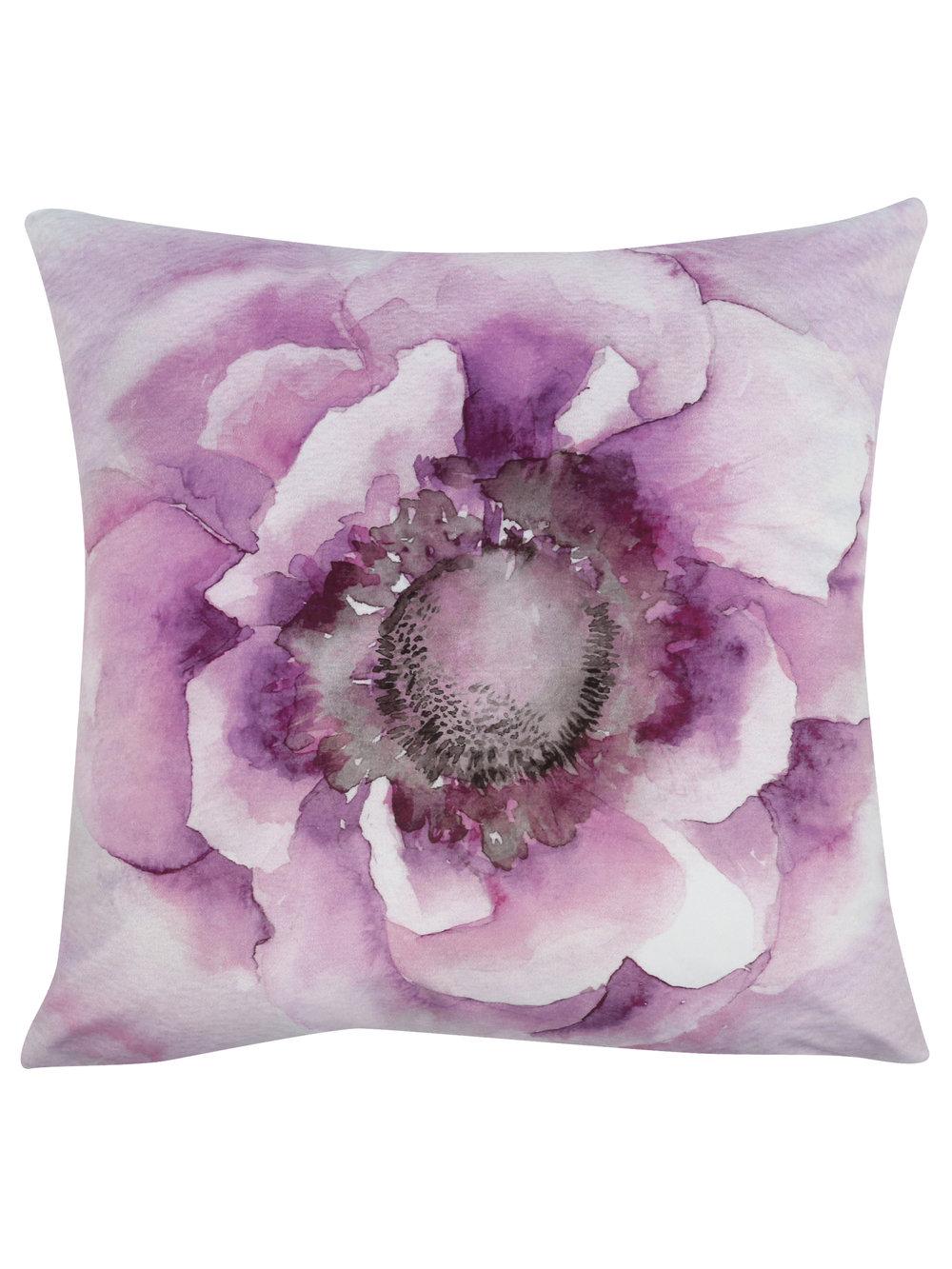 Lilac flower cushion, £19