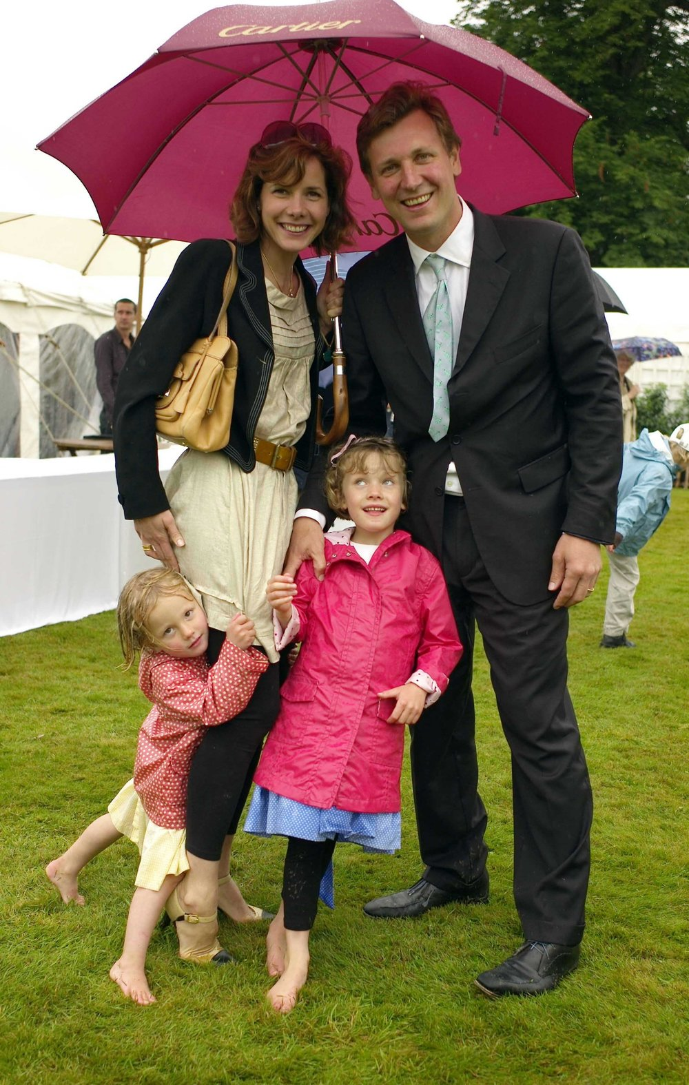 Darcey photographed a few years ago with her husband Angus and daughters Zoe and Phoebe