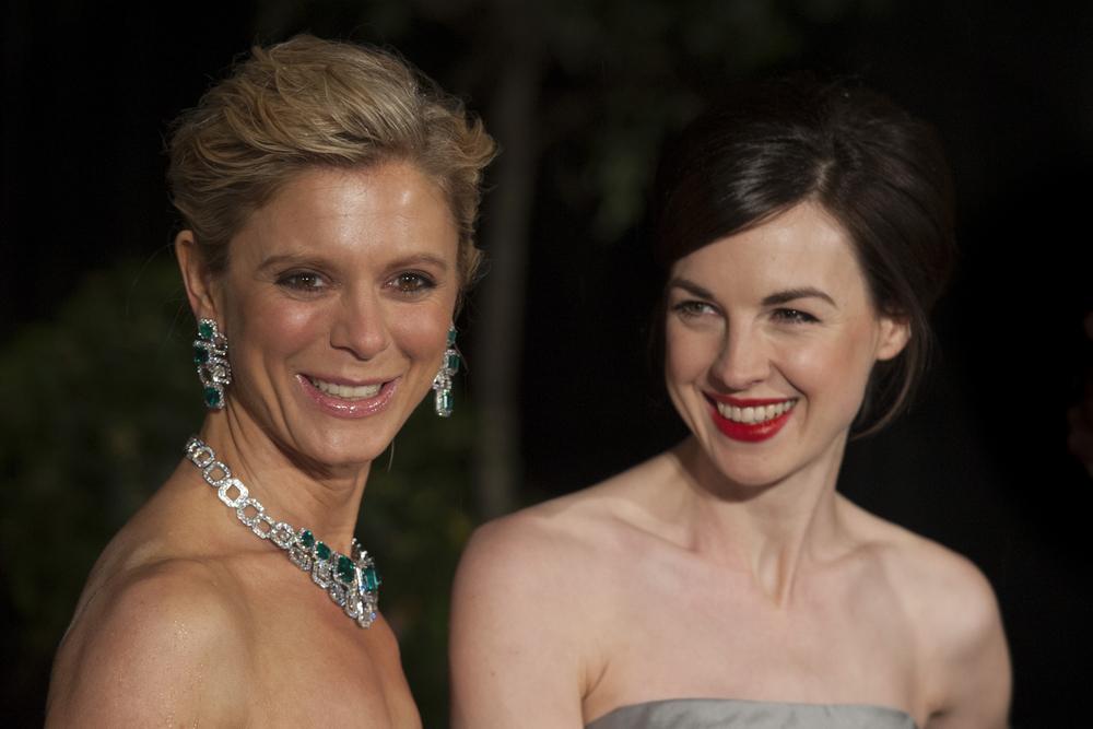 Jessica with Emilia Fox at the 2013 BAFTAs