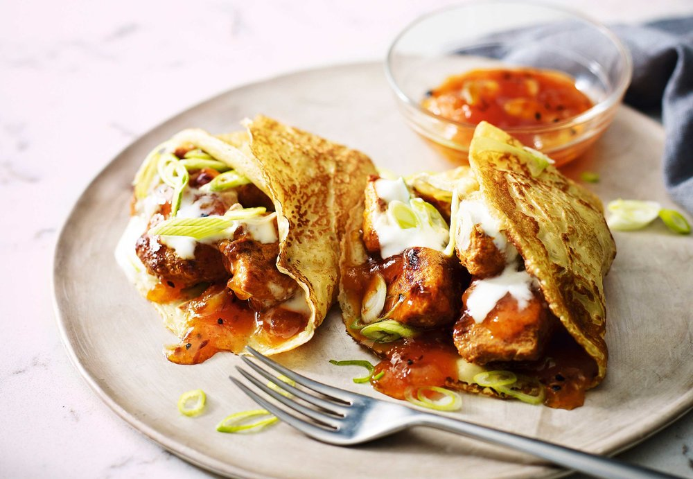 Chicken tikka pancakes