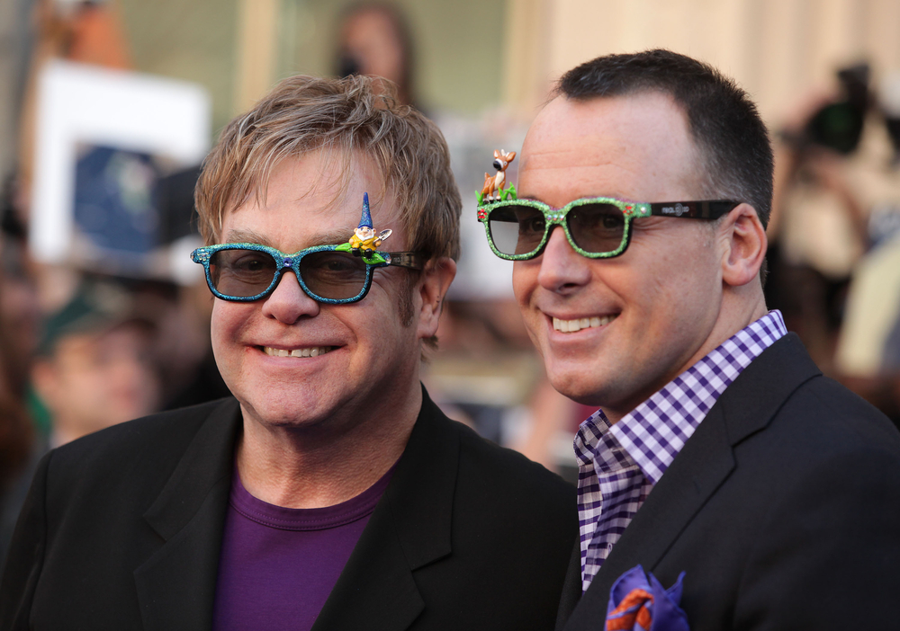 Elton and David in happier times
