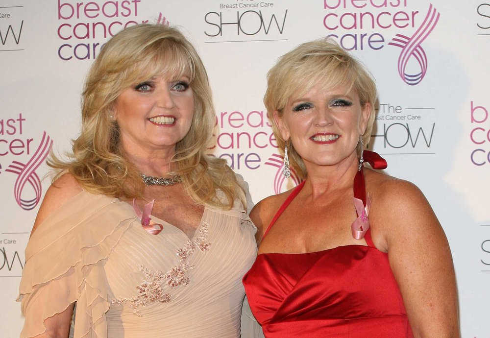 Linda with late sister Bernie in 2011