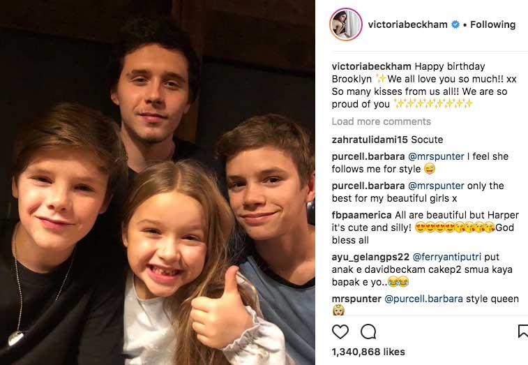 Image: Victoria Beckham, Instagram