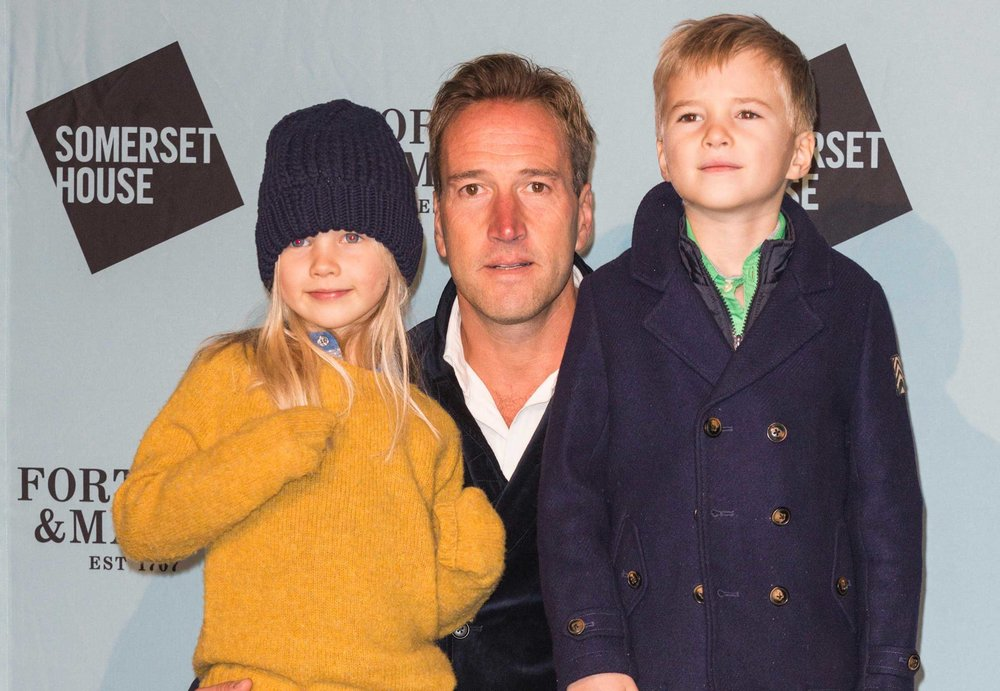 Ben with daughter Iona and son Ludo.