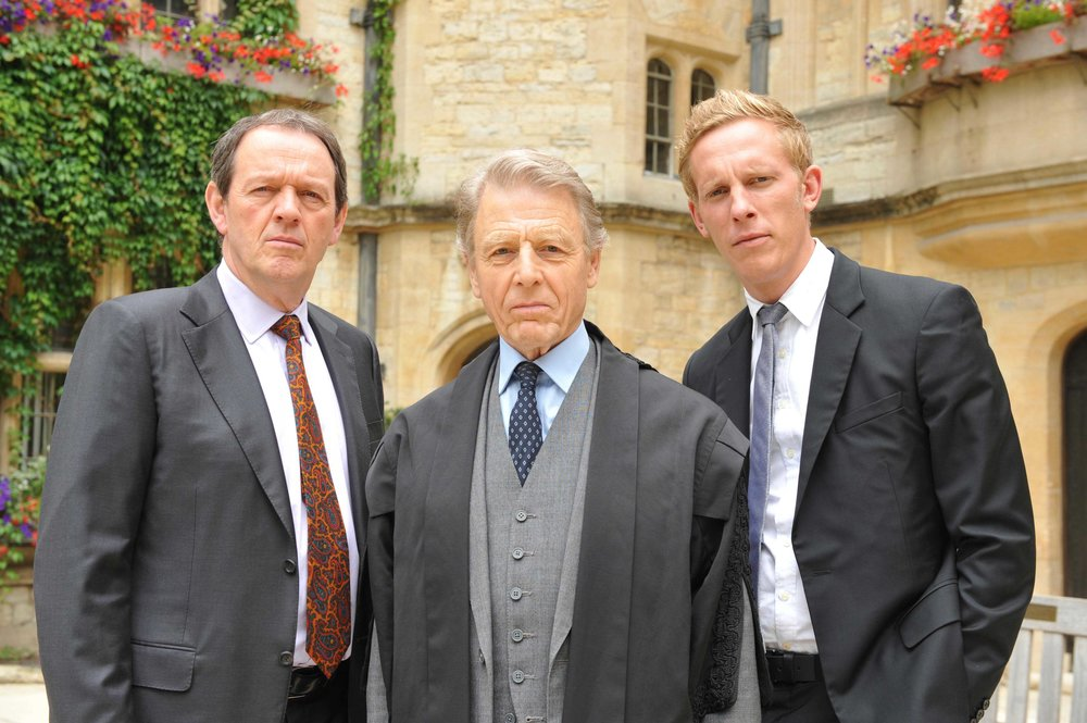 Laurence Fox (far right) starring in Lewis.