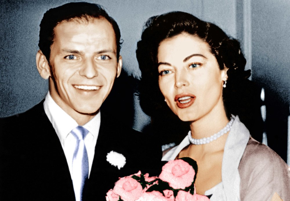 Frank Sinatra and Ava Gardner on their wedding day in 1951