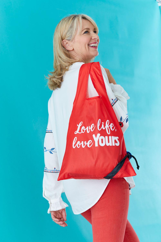 Claim your free foldaway tote bag