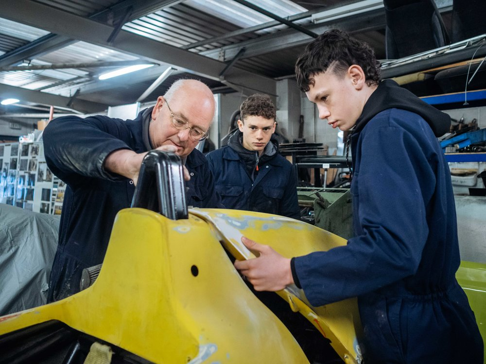 Teenagers come to OnTrak to learn life skills and get experience of the world of work