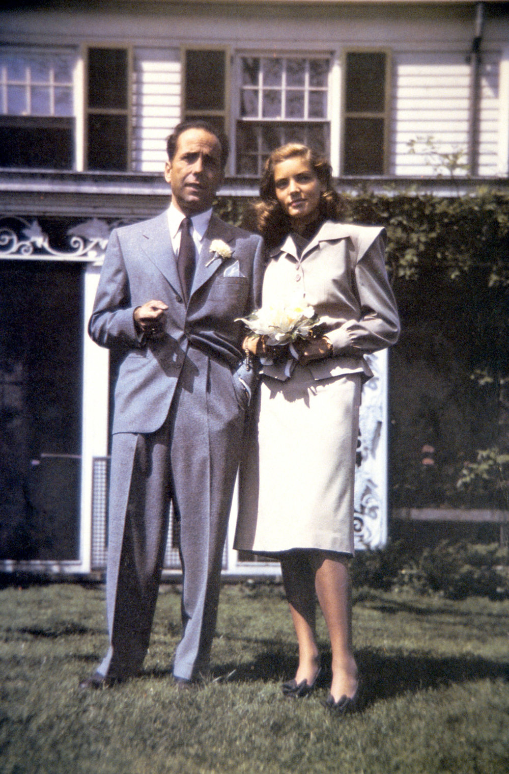 On their wedding day in 1945