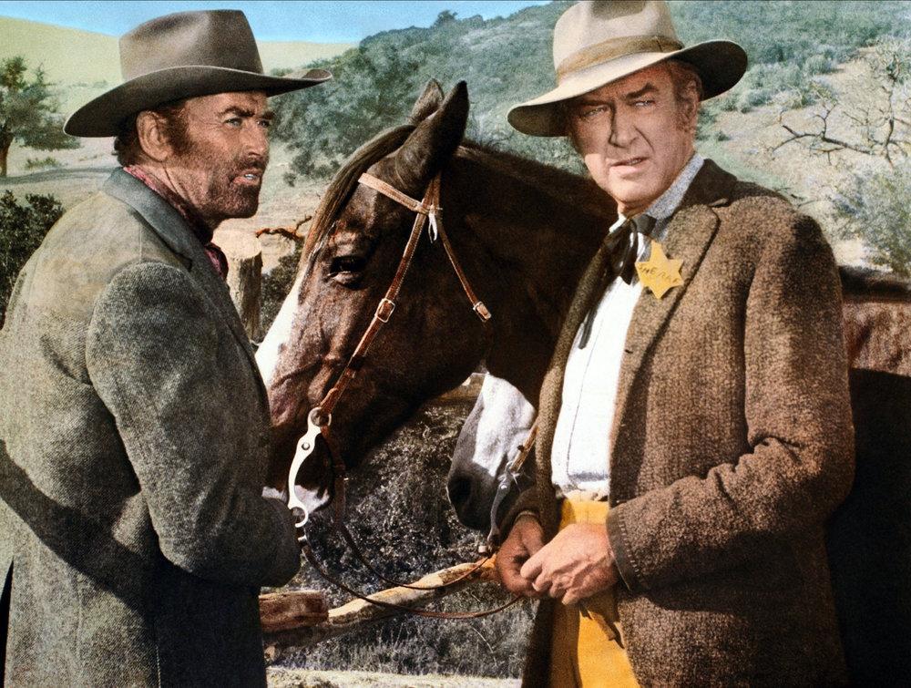 James with Henry Fonda in Firecreek