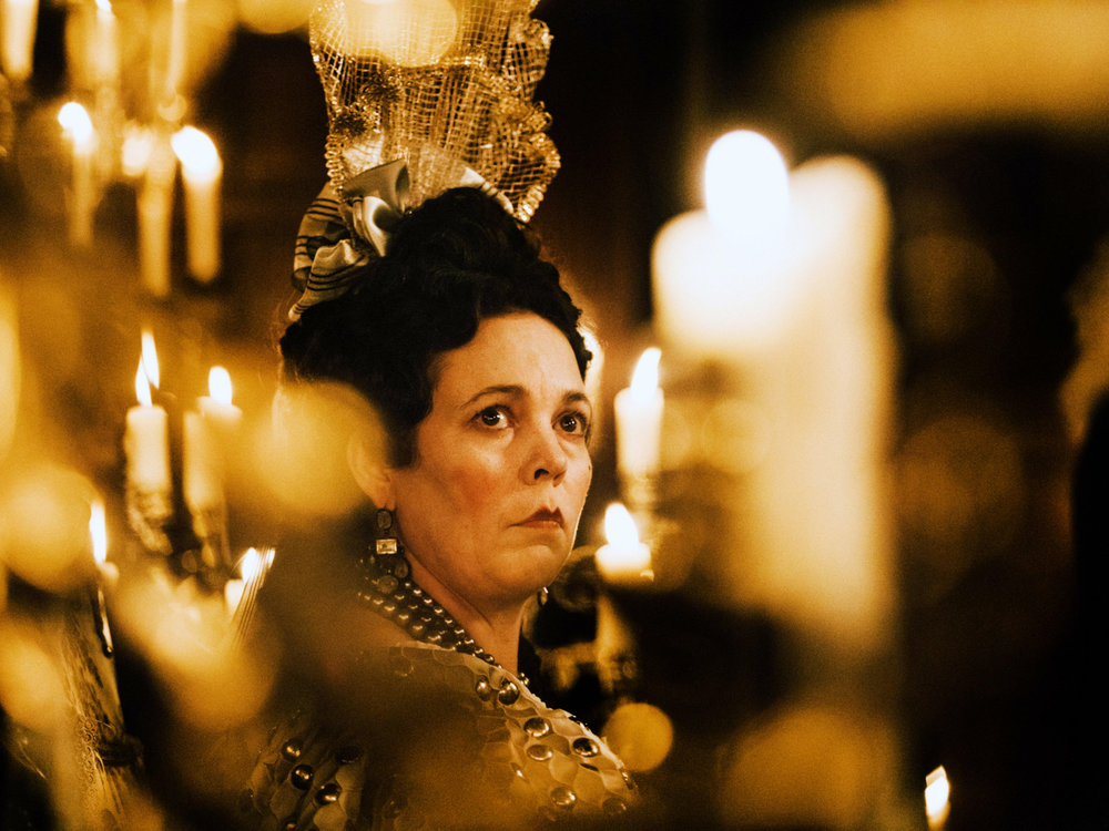 Olivia as Queen Anne in her Oscar winning performance in The Favourite