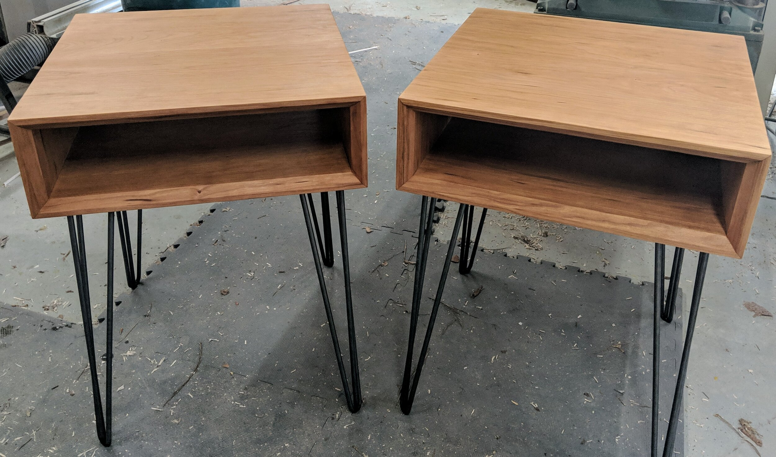 Picture of: Matching Mid Century Modern Bedside Tables Vanvleet Woodworking